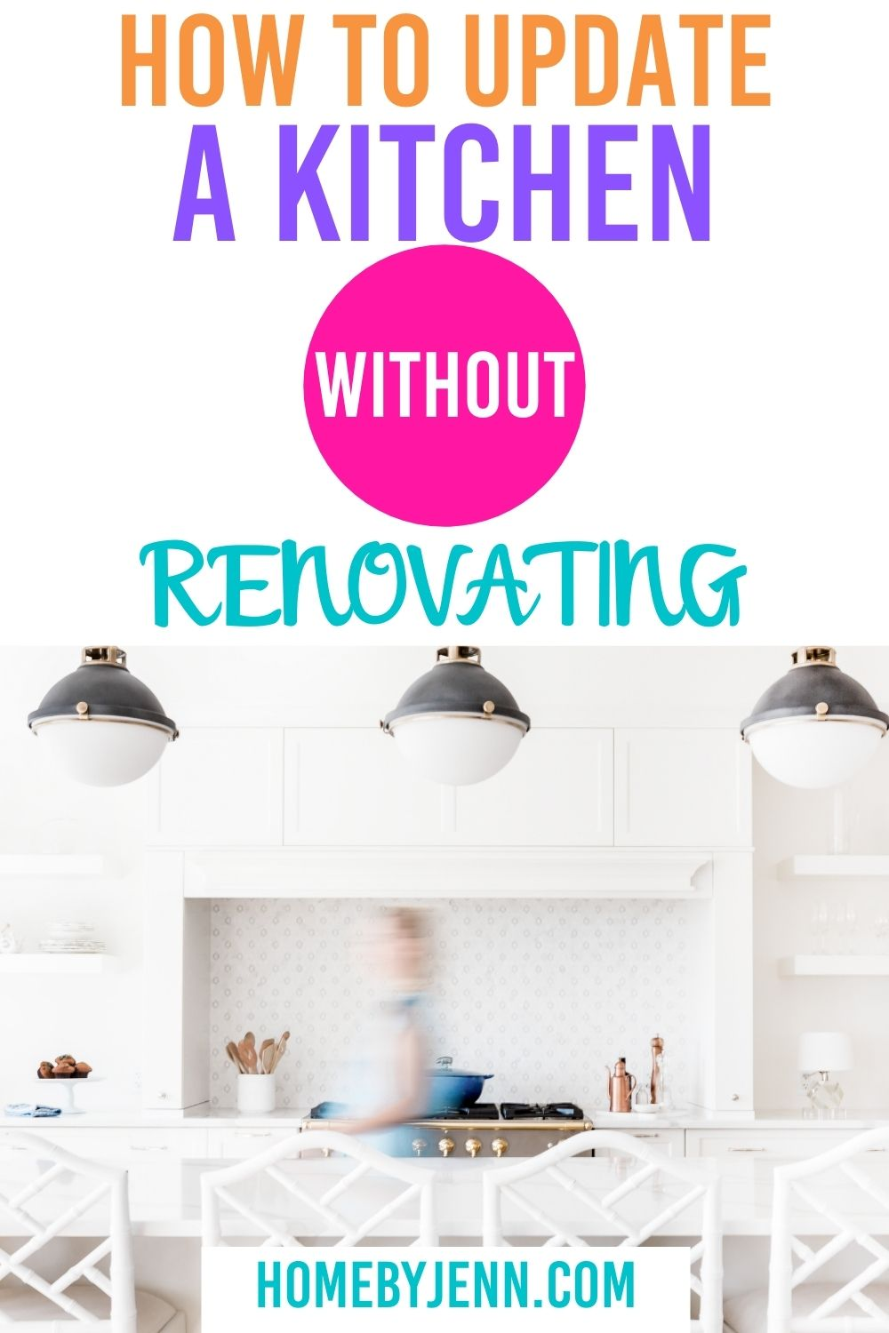 If you're tired of the way your kitchen feels and looks you can do a few updates to improve your kitchen. Here are some little things you can do to update your kitchen without renovating it. If you've got a small kitchen budget let me show you how to update a kitchen on a budget. via @homebyjenn