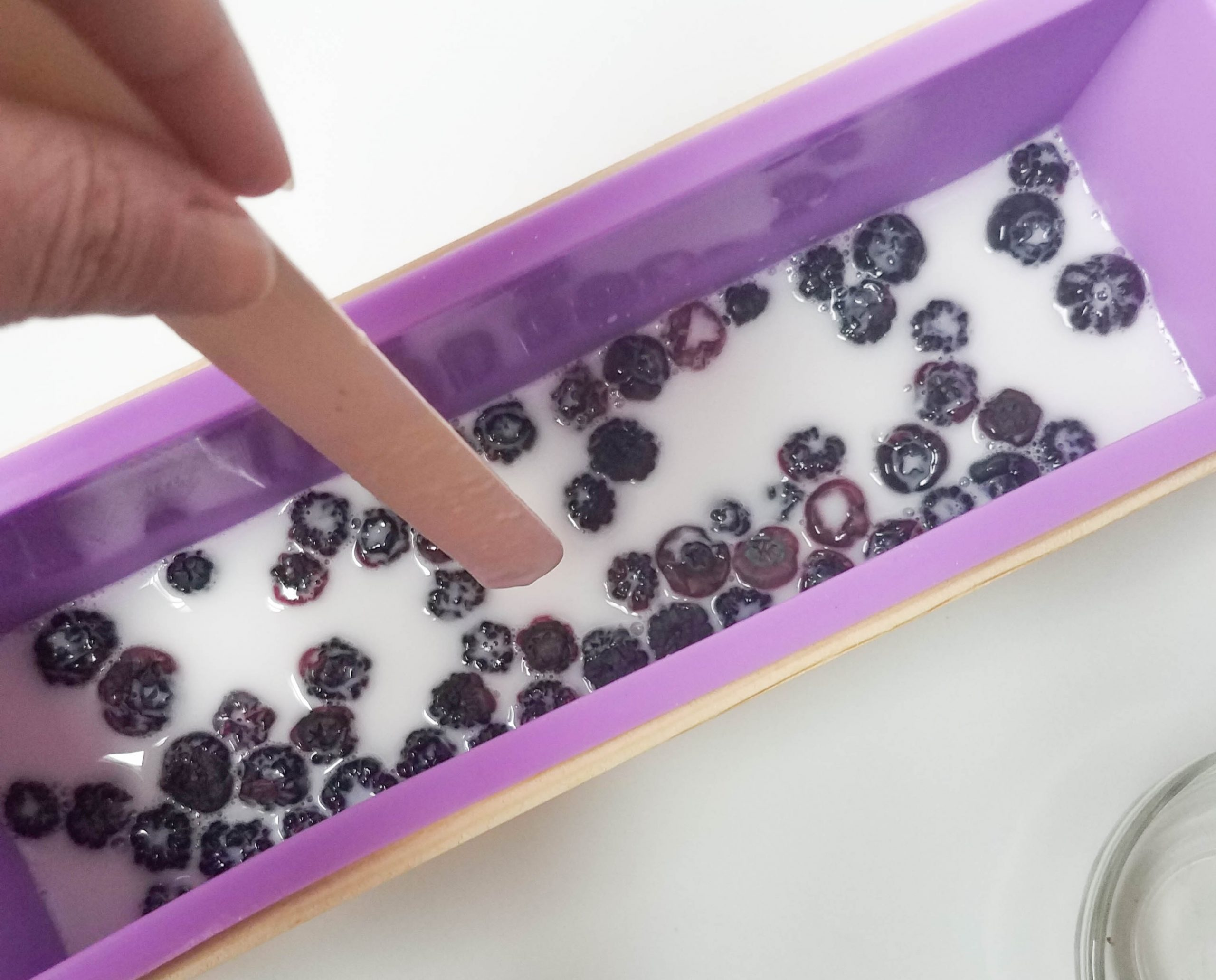 distribute the blueberries