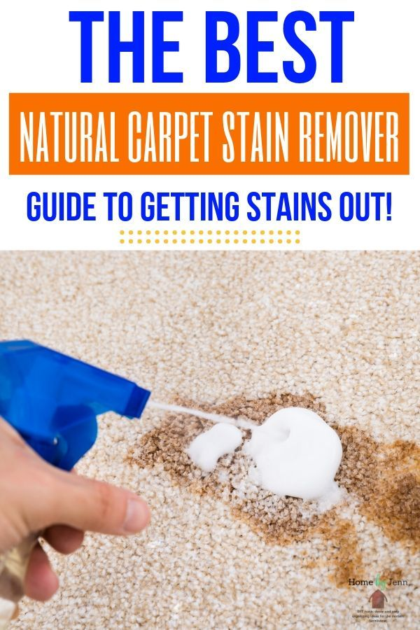 stain on carpet, getting sprayed by a natural cleaner