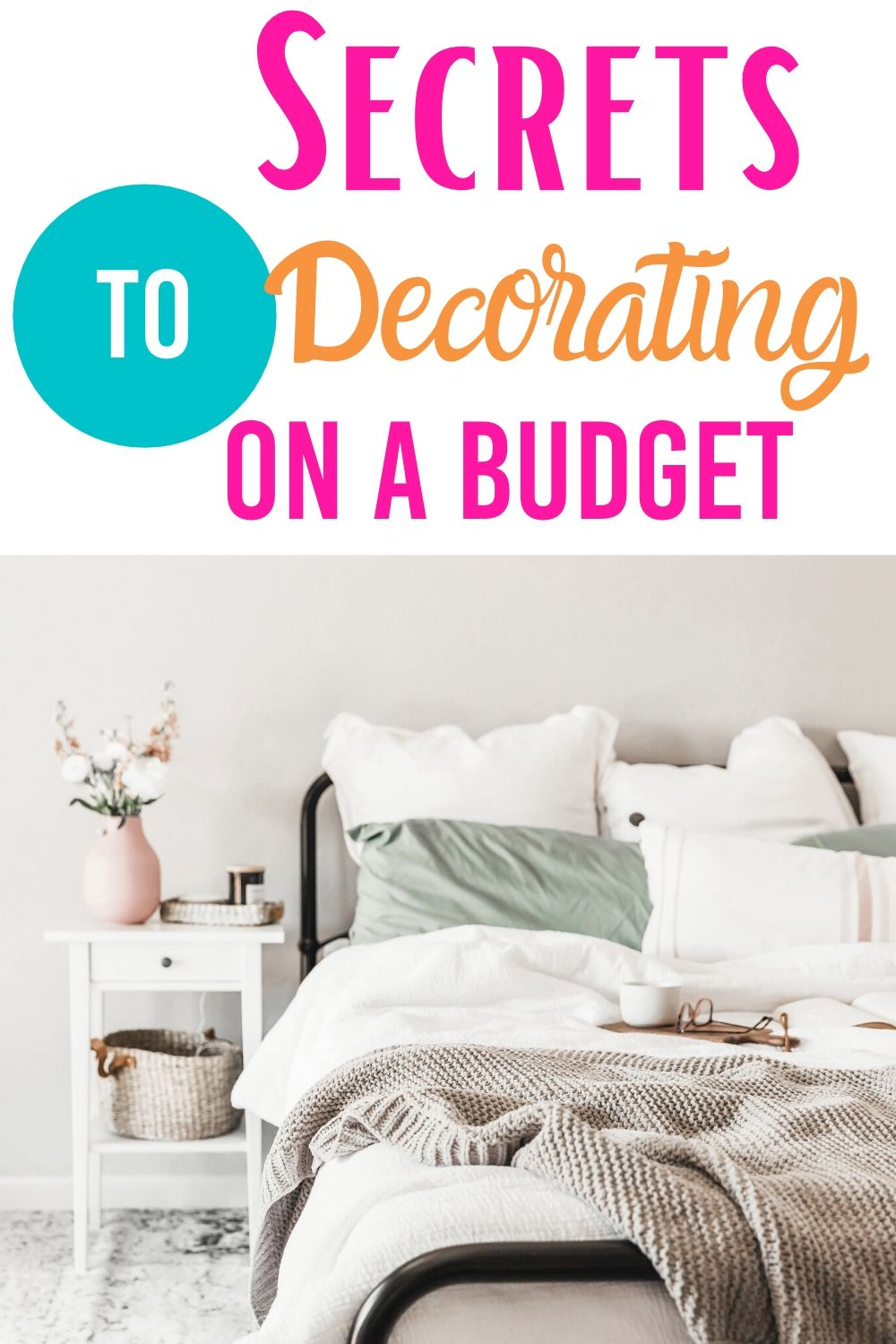Secrets to decorating on a budget will help you upgrade your home without breaking the piggy bank. Lear how to decorate your home on a budget and get a new look for your home. #decorating #budget #tips #home #apartment #house #simple #cheap #ideas via @homebyjenn