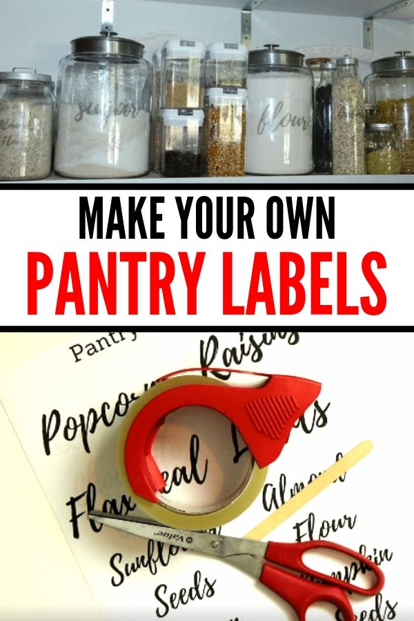labels for pantry