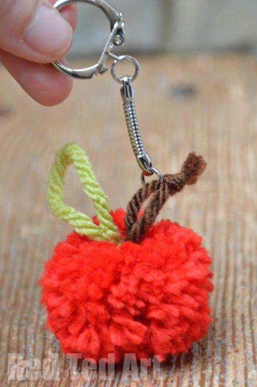 Apple Crafts - Apple Pom Poms!!! - Red Ted Art