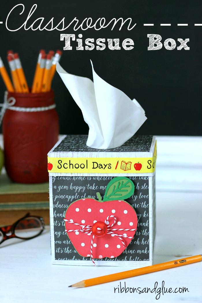 Classroom Tissue Box for the Teacher's Desk