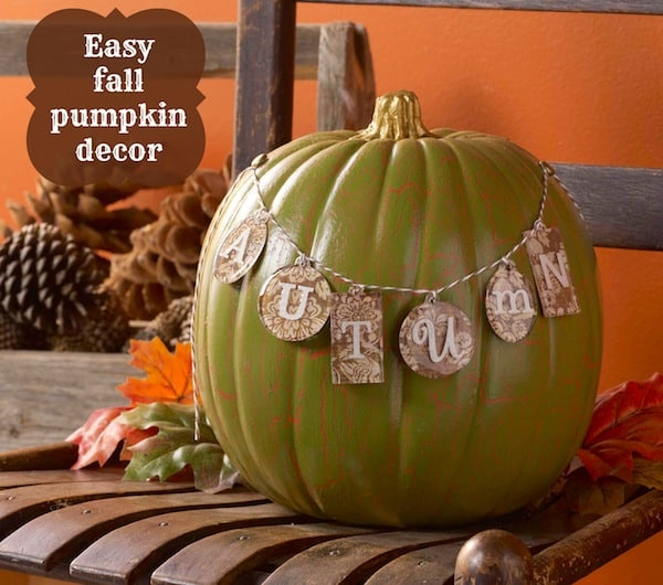 Simple Crackle Pumpkin Decor in Three Easy Steps
