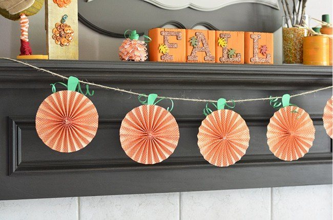 Fall Decorations - Paper Pumpkins