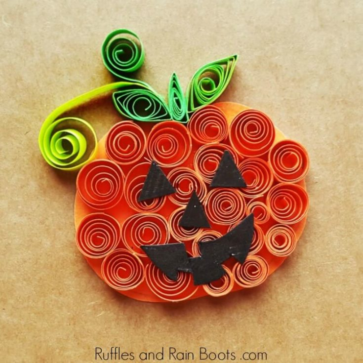 Fun Quilled Pumpkin Craft for Kids