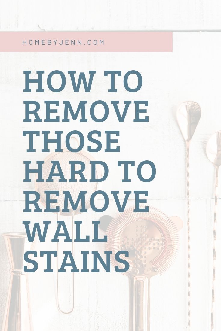If you've noticed spots and marks on your walls let me show you how to remove stains from walls. I'm going to cover how to clean some of the most common wall stains. You'll be able to refresh your walls and remove wall-stains in this post. via @homebyjenn