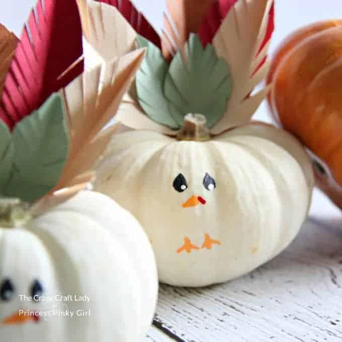 Turkey Mini Pumpkins Craft - An Easy Thanksgiving Craft