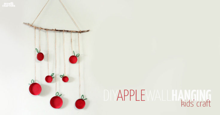 Apple Craft for Kids: make an apple wall hanging