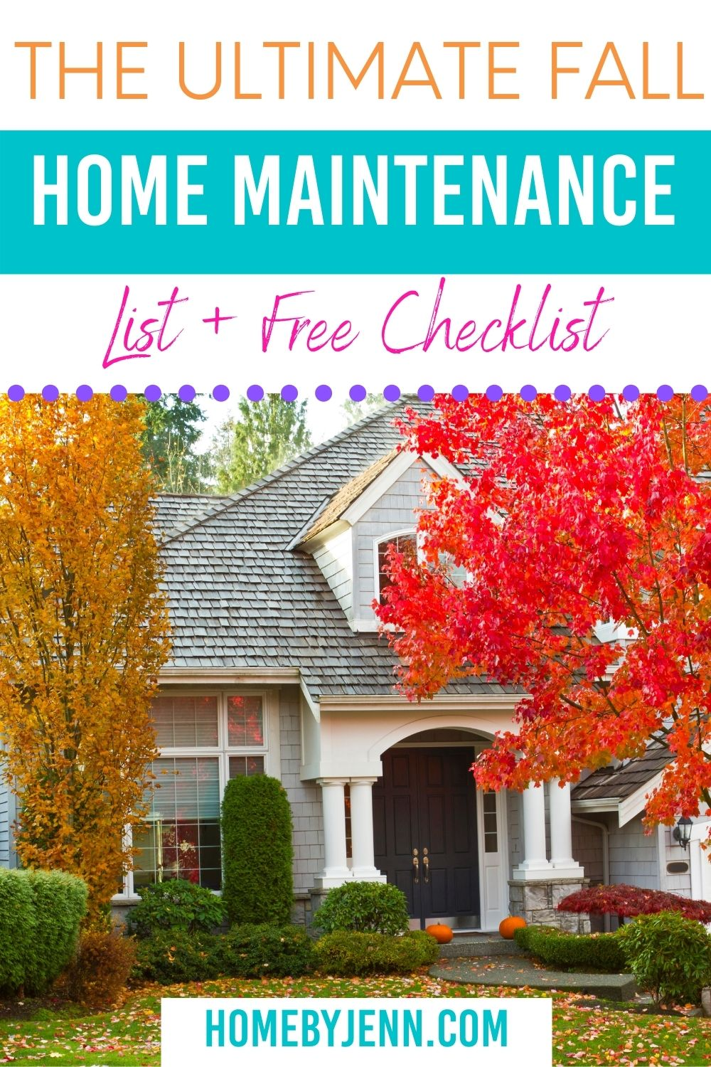 It's important to do a little home maintenance every once in a while. Check out the ultimate fall home maintenance list. You'll know exactly what to do with a free fall home maintenance checklist. via @homebyjenn