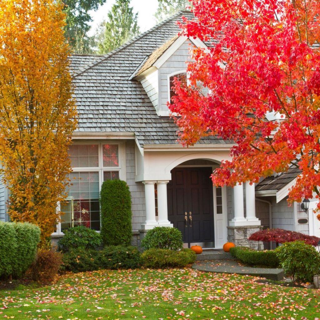 home in the fall season