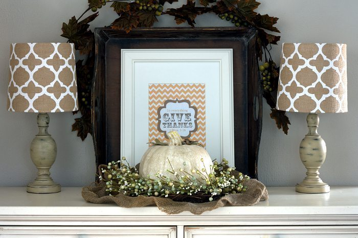 Give Thanks Fall - Free Printable Art