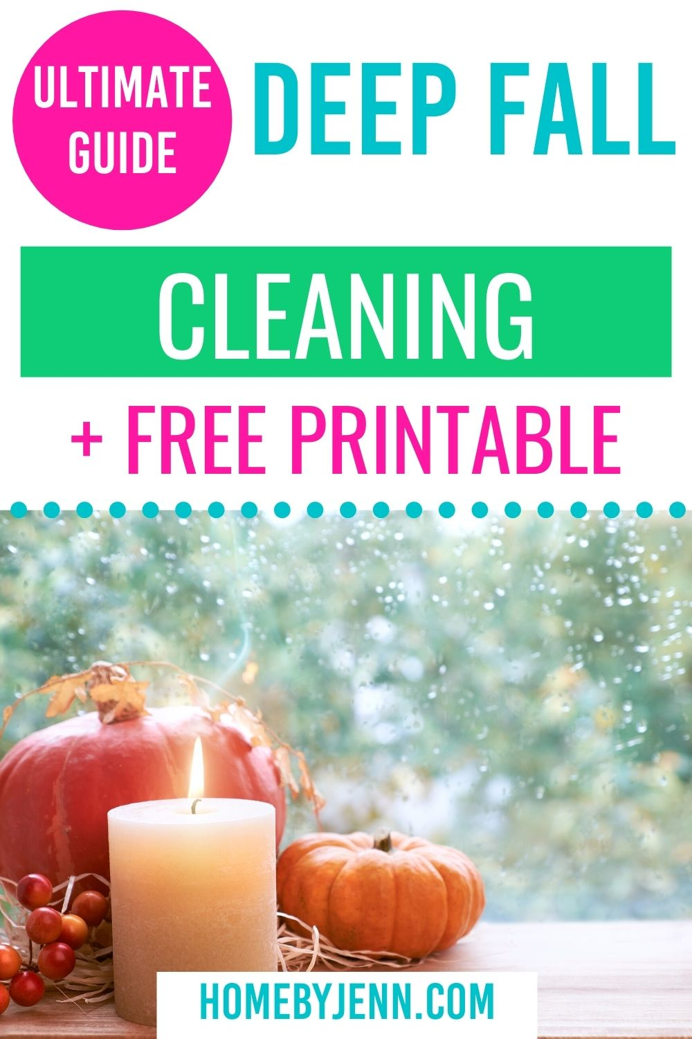 Now that the days are getting shorter and the weather is cooling it is time to think about your fall clean up. Follow my easy guide to tackle your home and be prepared for fall clean up. Fall cleaning guide you don't want to miss out on. #fall #cleaning #organizing #checklist #fallcleaningguide #whattoclean via @homebyjenn