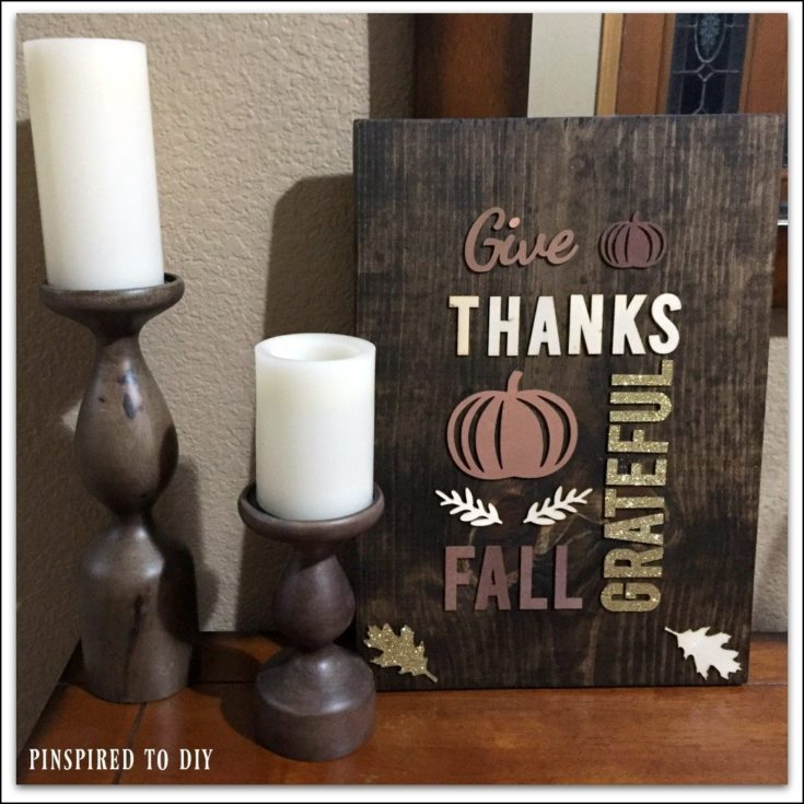 DIY Fall Decor: Rustic Wood Wall Art