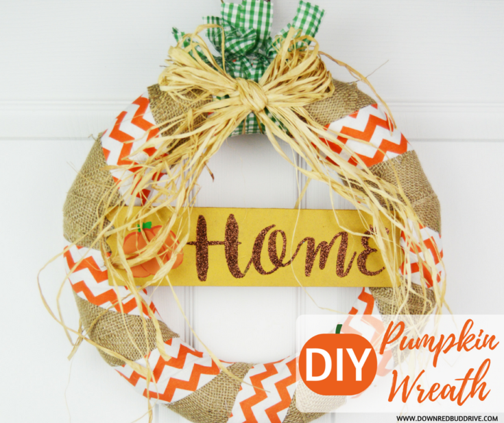 DIY Pumpkin Wreath