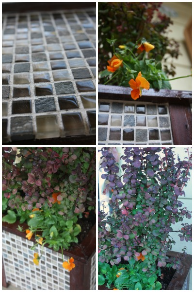 Gorgeous Tiled Wooden Planter DIY for Garden Decor #LowesCreator