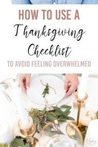 How to use a Thanksgiving Checklist