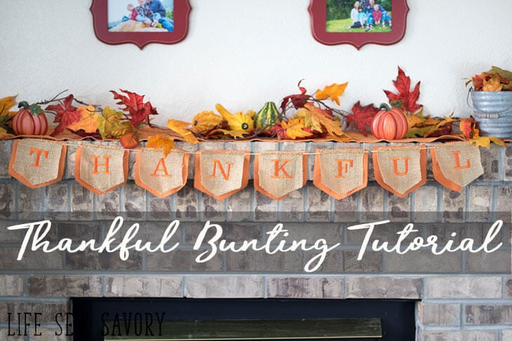 Thankful Banner - Thanksgiving Bunting