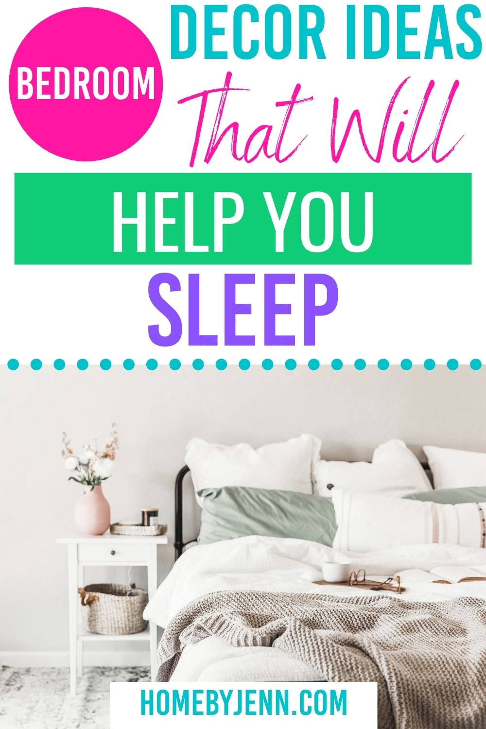 bed with a book and cup of coffee via @homebyjenn
