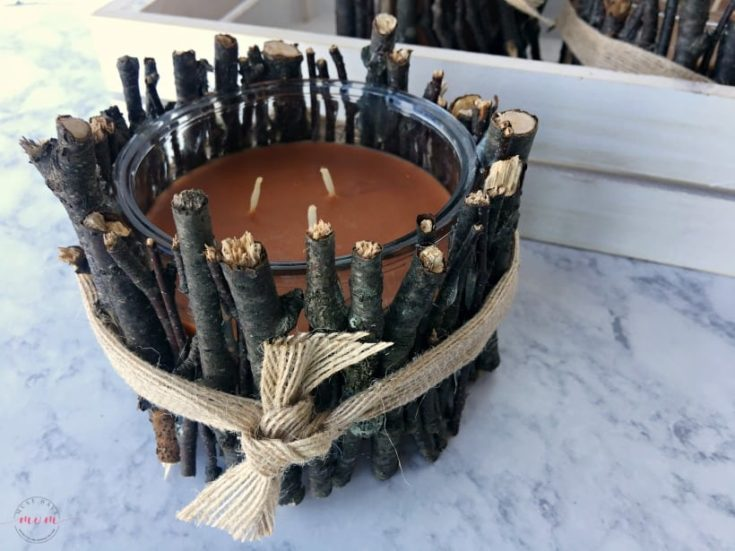 DIY Rustic Candle Holders + Fall Walk