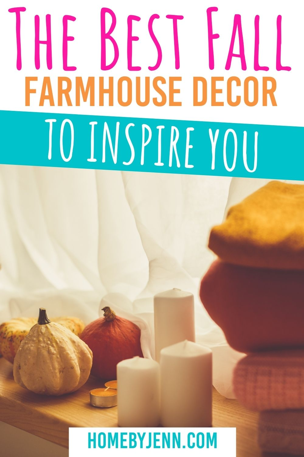 When decorating fall is one of my favorites because of the colors, textures, and all around warm feeling that the fall decor provides. In this post, I'm sharing over 30 different fall farmhouse decor ideas to help you with this fall. #falldecor #fallfarmhousedecor #decoratingforfall #falldecorating via @homebyjenn