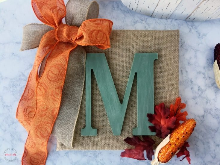 Easy DIY Monogram Sign for Fall Even If You Don't Craft