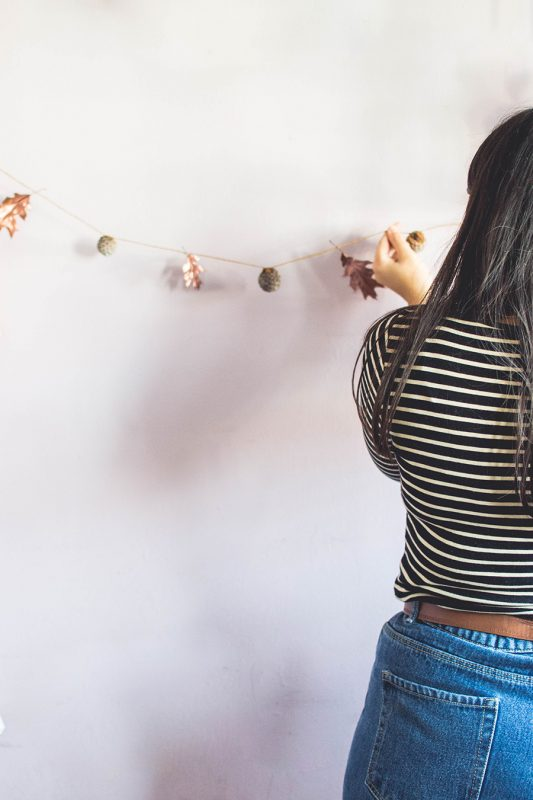 Easy Autumn Garland DIY