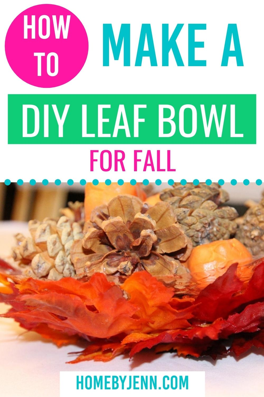 Add some fall decor to your home with this DIY leaf bowl. The fall craft is very simple to make. #fall #falldecor #craft #DIY #fallcrafts #art #kidcrafts #homedecor #easycrafts #leafcraftideas via @homebyjenn