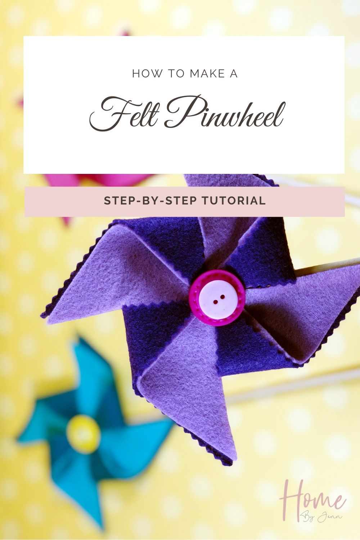 How to Make A Pinwheel via @homebyjenn