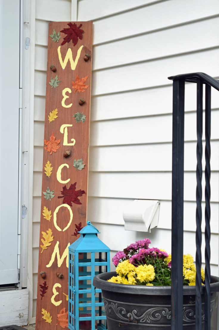 DIY Fall & Thanksgiving Welcome Sign