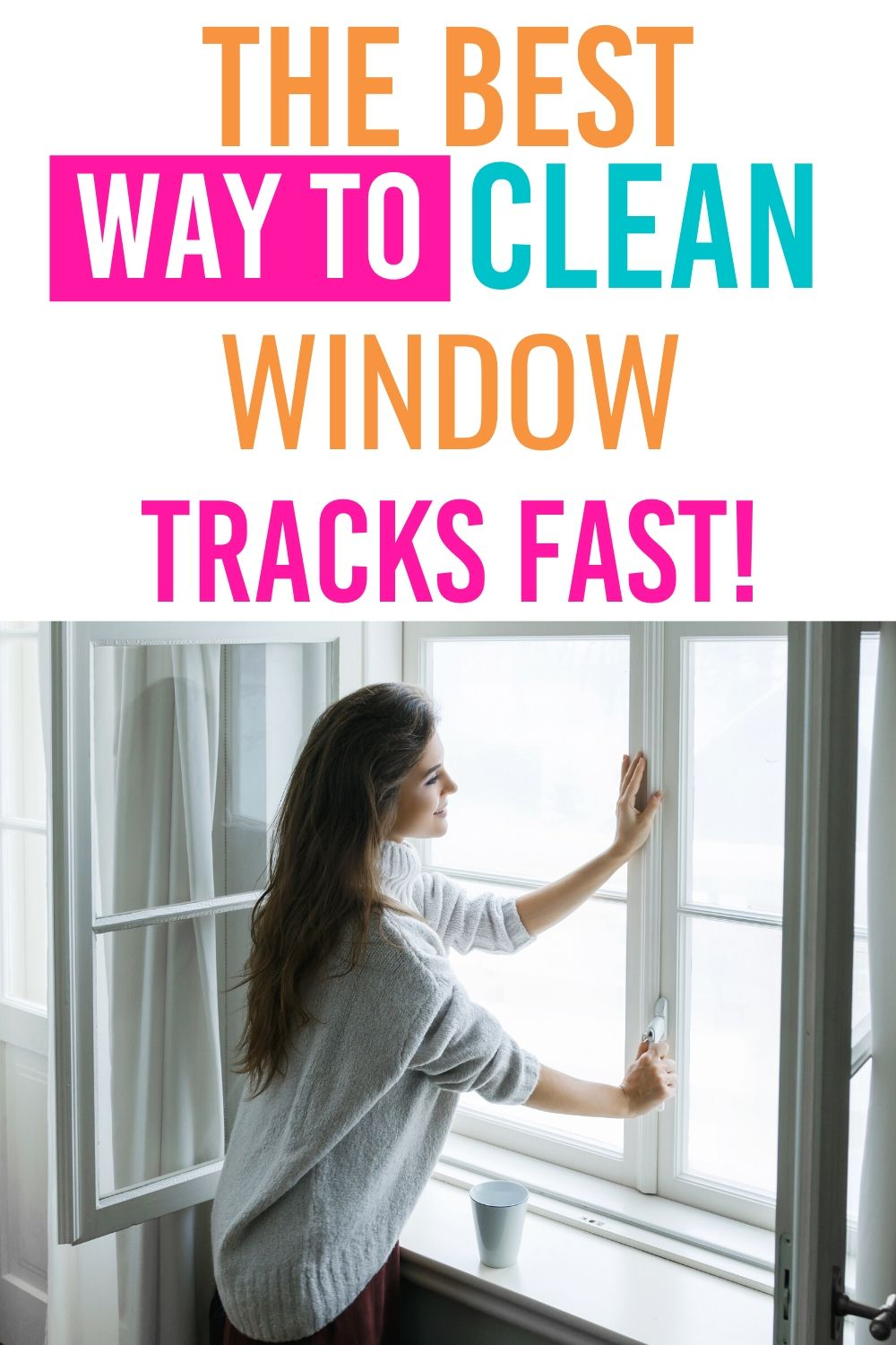 Learn how to clean window tracks fast and the right way. Get rid of any dust, dirt, and debris lingering for a fresh and clean window track. #windows #cleaning #guide #howto #best #easy #windows #home #fresh via @homebyjenn