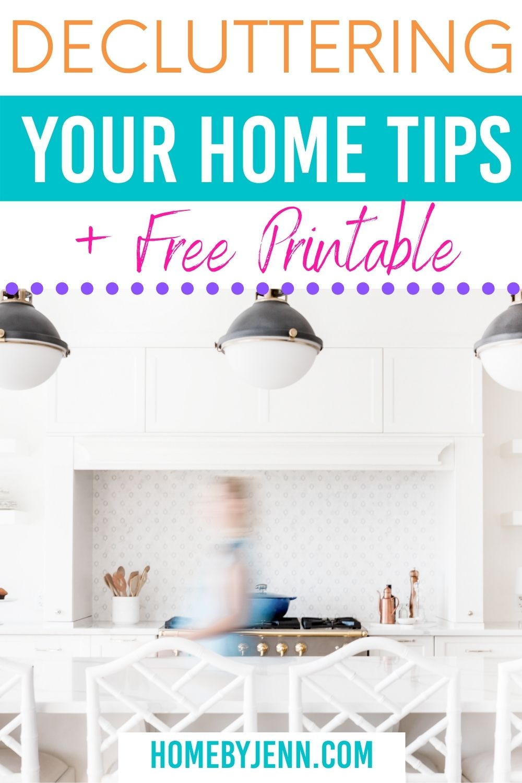 decluttering your home tips via @homebyjenn