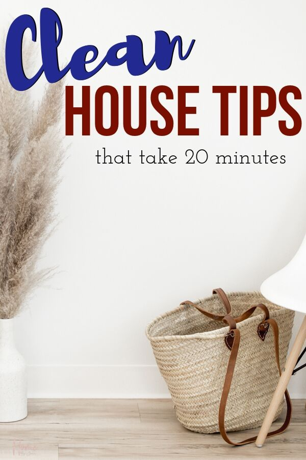 Enjoying a clean home is possible with these clean home tips. Follow along with these cleaning tips to achieve a clean home in under 20 minutes. #cleanhome #clean #cleaningtips #quickclean