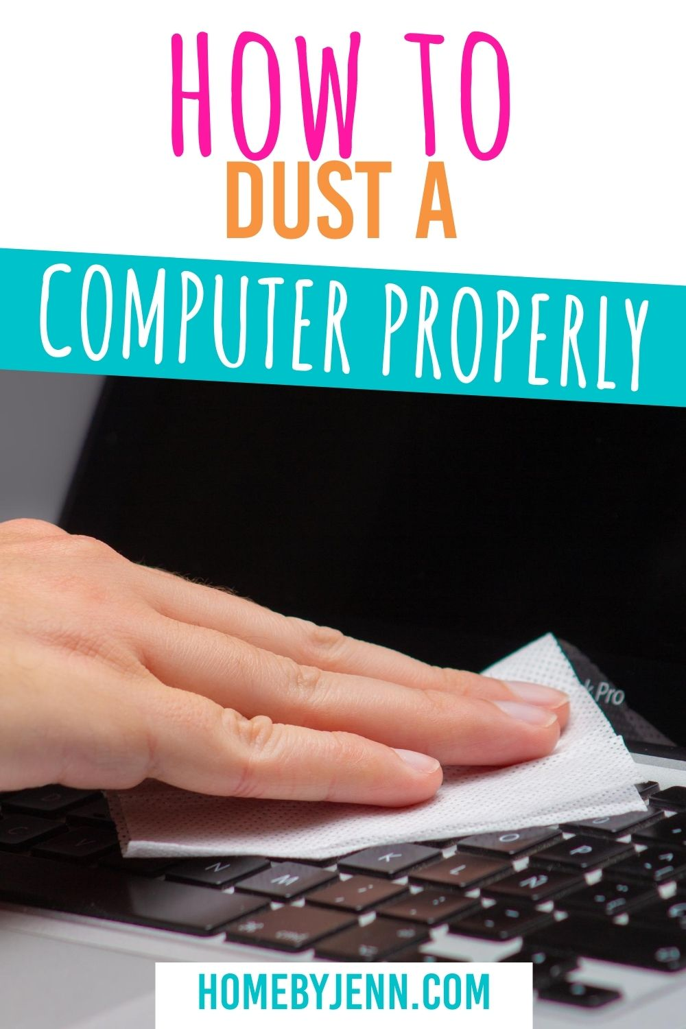 Learn tips and tricks on how to dust a computer the right way. Dusting a computer is easy, when you have the right supplies. #cleaning #office #computer #microfiber #howto #tips #tricks #guide via @homebyjenn