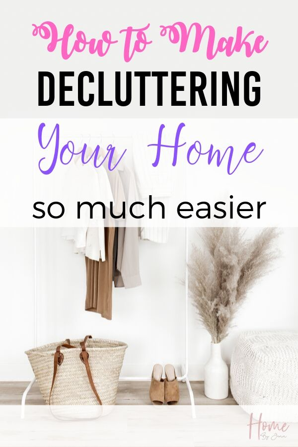 How To Make Decluttering Your Home So Much Easier via @homebyjenn