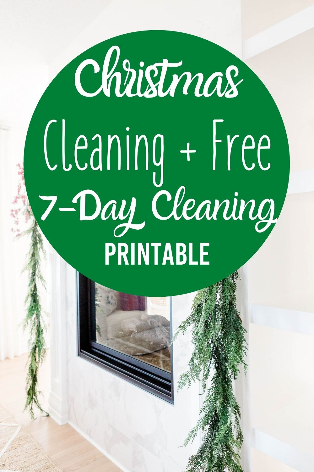 Here is your Christmas cleaning 7-day cleaning plan to tackle every area in your home! This is full of holiday cleaning tips to simplify your time. Included is a free cleaning printable to help you with any cleaning that needs to be done before the holidays. #holiday #cleaning #guide via @homebyjenn