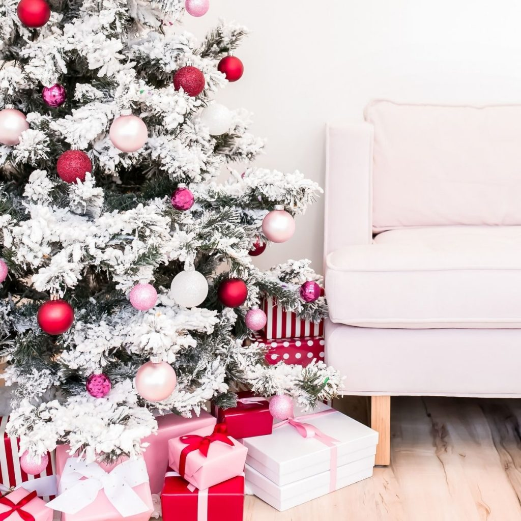 Christmas tree with gifts under