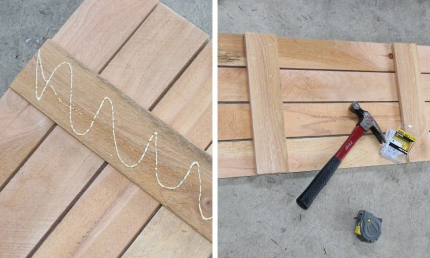 Assemble the farmhouse shutters