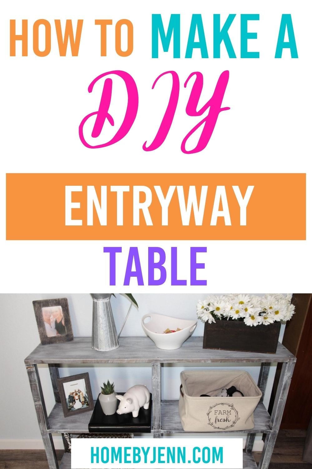 entryway table via @homebyjenn