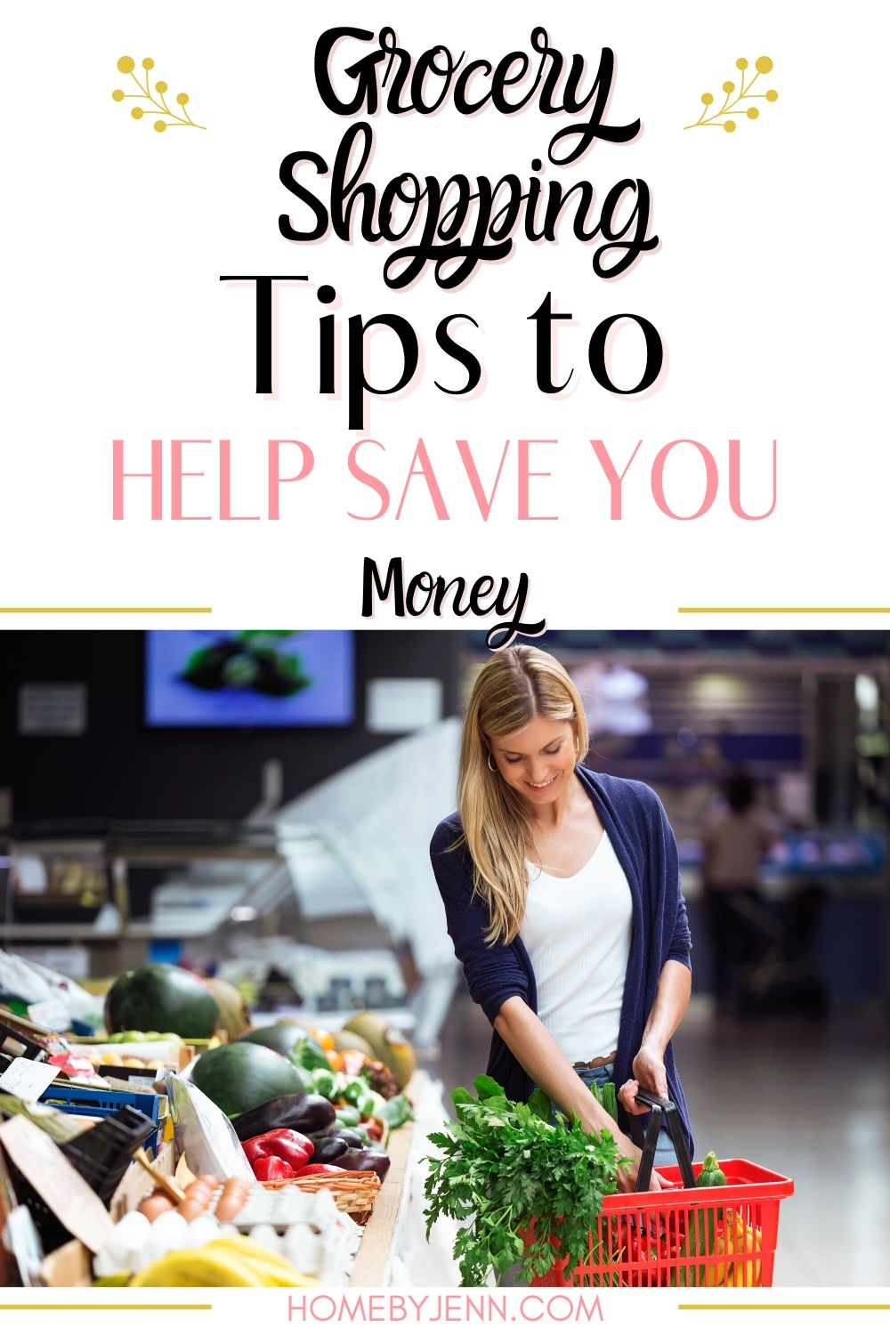The reality is that grocery prices are not going down. In this post, you'll learn some grocery shopping tips that will save you money on your grocery bill. #groceries #cutthebill #budget #savingmoney #shoppingtips #groceryshoppingtips #save via @homebyjenn