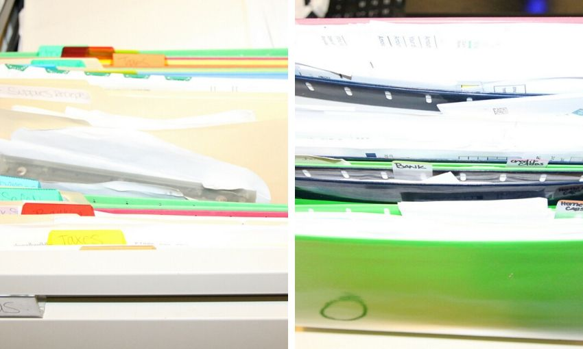 filing folders disorganized