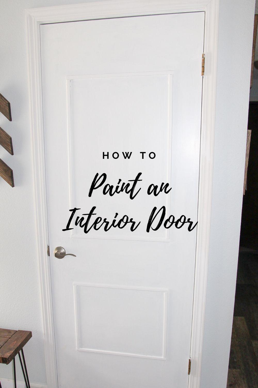 How to Paint an Interior Door