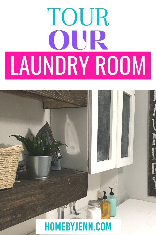 laundry room makeover via @homebyjenn