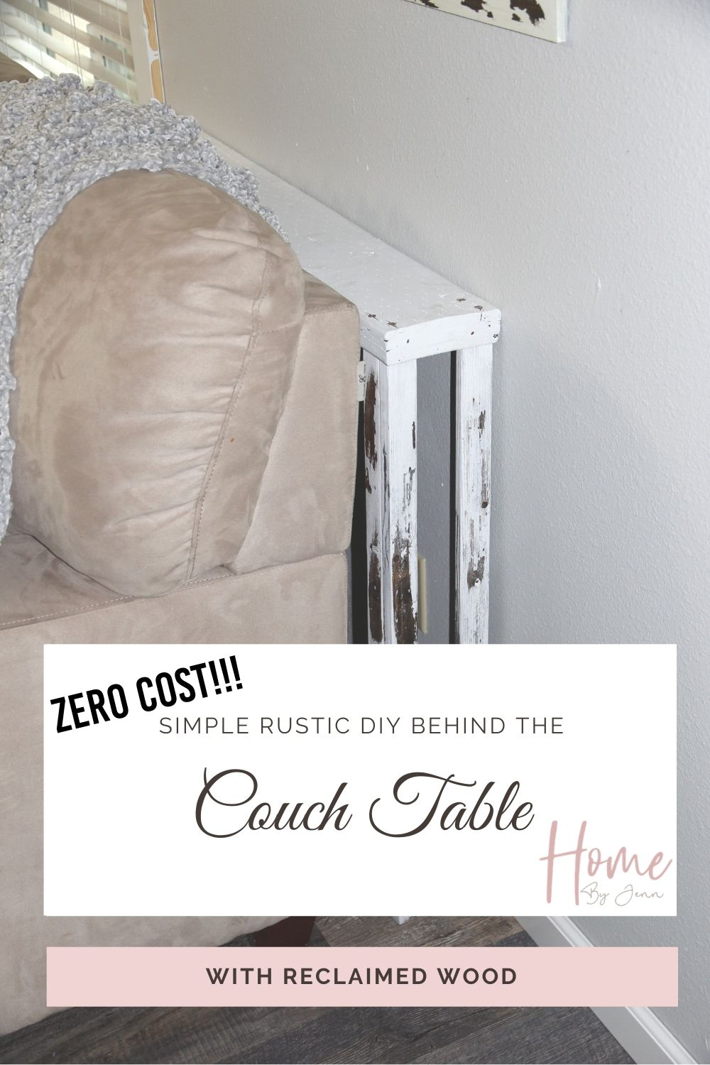 DIY Behind The Couch Table via @homebyjenn