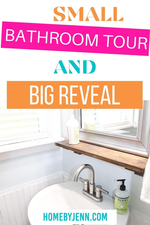 small bathroom via @homebyjenn