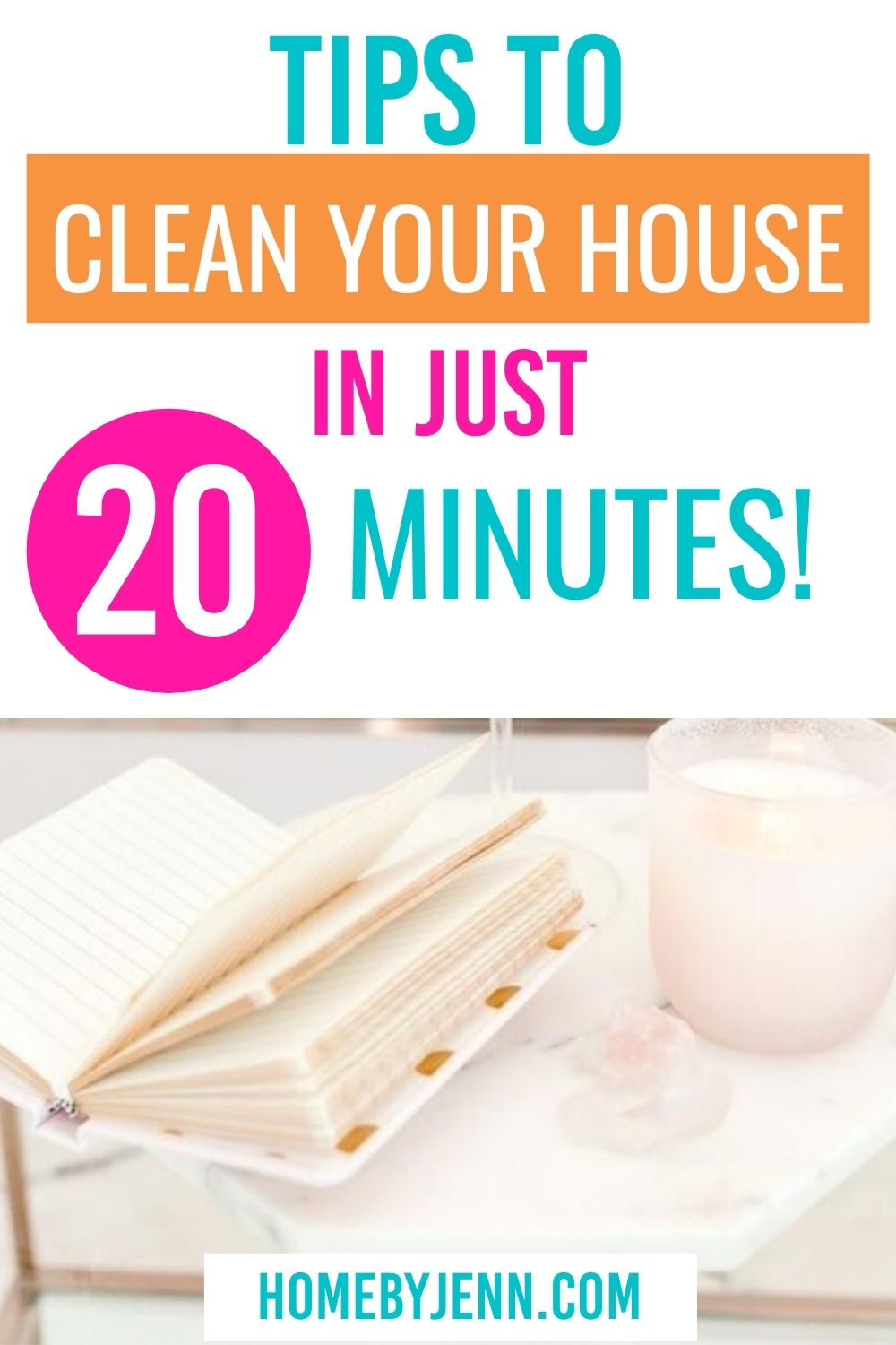 Enjoying a clean home is possible with these clean home tips. Follow along with these cleaning tips to achieve a clean home in under 20 minutes. #cleanhome #clean #cleaningtips #quickclean via @homebyjenn
