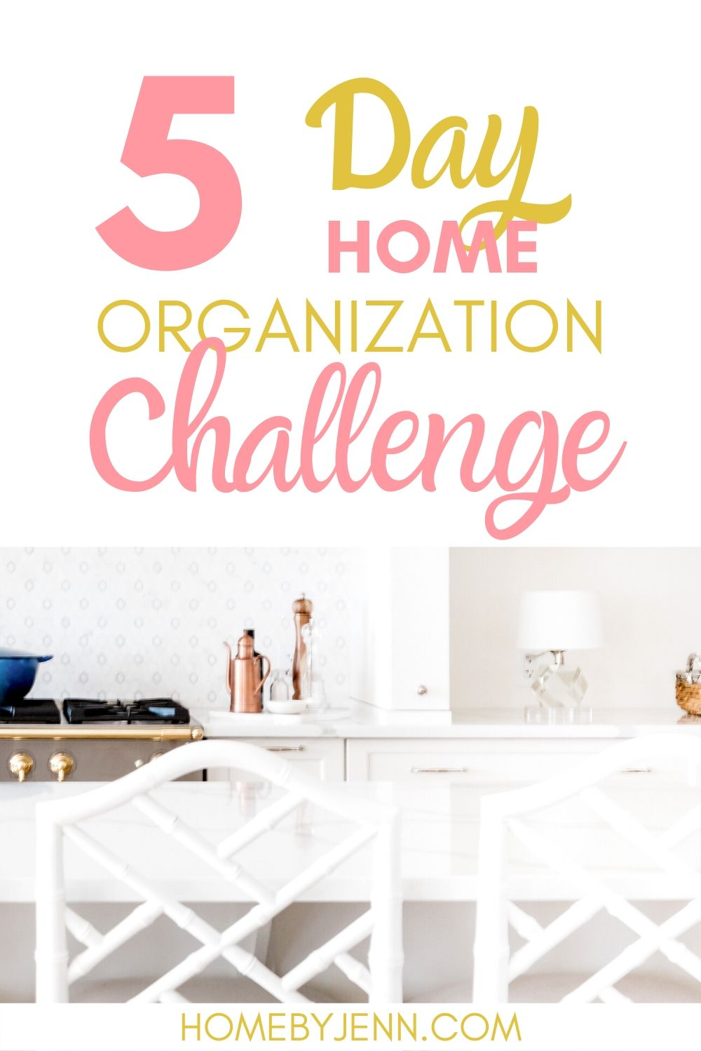 Learn exactly where to start organizing your home with these organizing tips. This free 5-day organizing challenge is easy to follow and will help you organize your entire home. #organizing #organizedhome #declutter #declutteringtips #declutteringtipsandtricks #organizinghacks #organizingtips via @homebyjenn