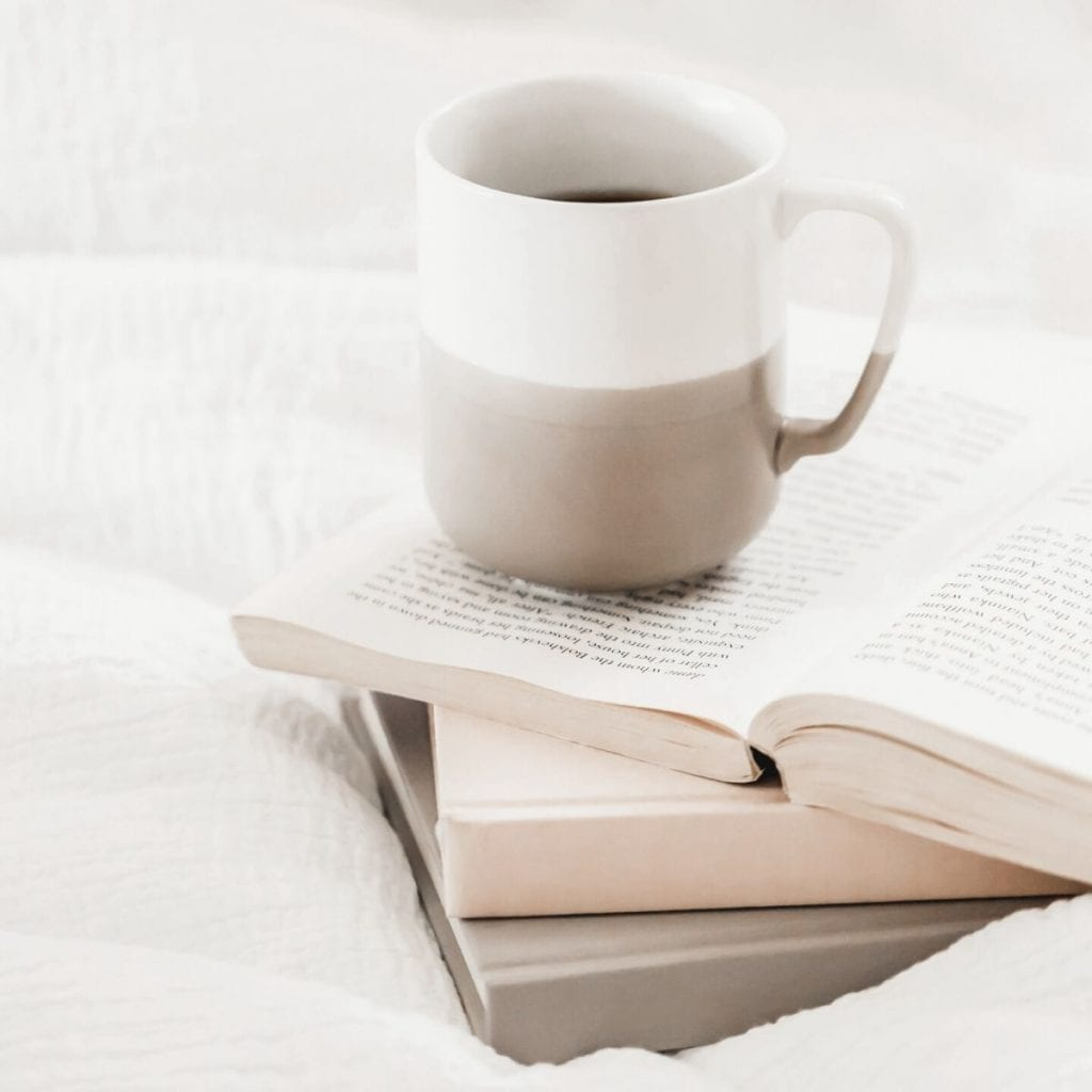 cup of coffee on a book