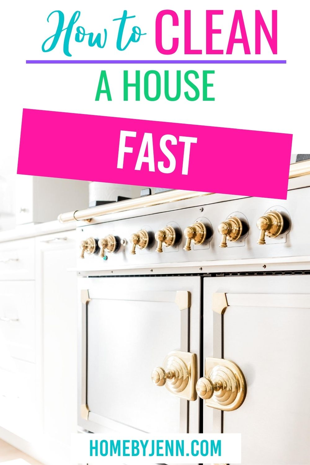 Learn how to clean your house fast with these speed cleaning tips. #cleanhome #cleaningtips #cleaningtipsandtricks #cleaninghacks #speedclean #quickclean #cleanses #guide #simple #organized via @homebyjenn