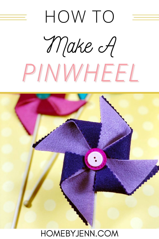 close up of a felt pinwheel via @homebyjenn